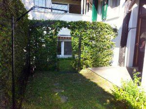Gartenstück mit Katzennetz System Catprotec
