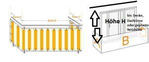 Balkonvernetzung ausmessen
