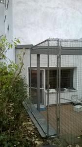 Freigehege für Katzen auf Terrasse