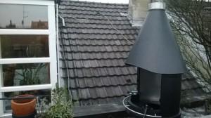 Terrasse mit schiebbarem Katzennetz zum öffnen