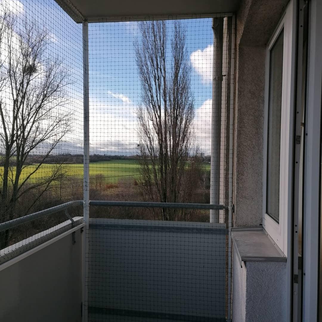Balkon katzennetz schiebend öffnend ohne bohren